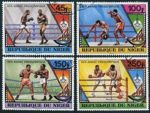Niger 484-487,CTO.Michel 673-676. Pre-Olympics Moscow-1980.1979.Boxing.