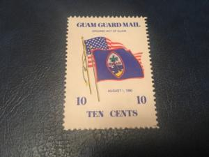 ICOLLECTZONE US Guam Guard Mail August 1, 1950 Flags Issue Mint VF NH