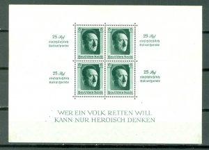 GERMANY HITLER #B102...SHEET..MINT...$19.00