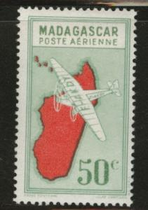 Madagascar Malagasy Scott C25 MH* airmail from 1942-44 set