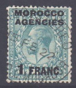 Morocco Scott 409 - SG199, 1917 French 1f used