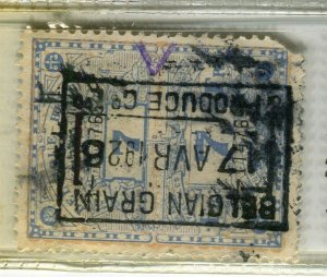 BELGIUM; Early 1900s fine used TAXES FISCALES Revenue issue used value, 7f