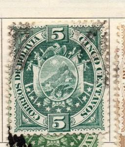 Bolivia 1894 Early Issue Fine Used 5c. 113732
