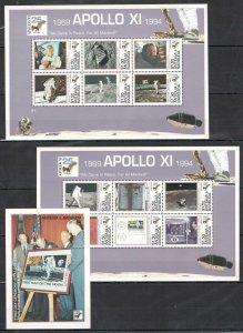 C0013 Antigua & Barbuda Espace Exploration Apollo 11 2KB+1BL MNH