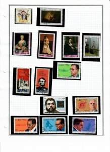 Cuba Lot of 65 Stamps Mostly CTO