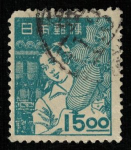 1948-1949, Trades, Japan, 15.00Sen (RT-1072)