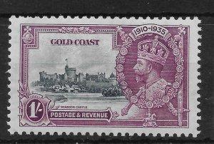 GOLD COAST SG116 1935 SILVER JUBILEE 1/= MTD MINT