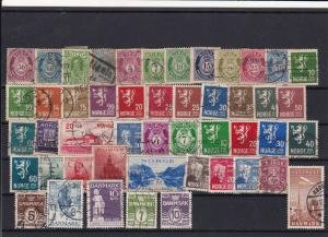 Norway Denmark Hinged Stamps Ref 31774