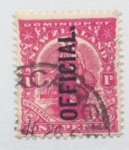 New Zealand Stamp Scott #O24, Used, Perf 14x15 - Free U.S. Shipping, Free Wor...