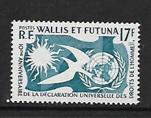 WALLIS AND FUTUNA ISLANDS 153 MINT HING HUMAN RIGHTS COMMON DESIGN
