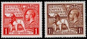 SG432-433, 1925 PAIR, LH MINT. Cat £55.