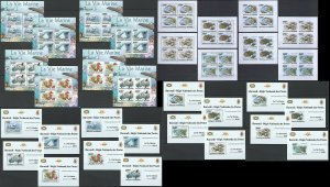 BU19 IMPERF,PERF 2011 BURUNDI FAUNA FISH & MARINE LIFE !!! 16KB+16BL MNH