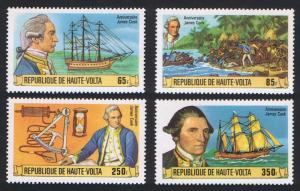 Upper Volta Captain James Cook 4v 1978 MNH SG#487-490 MI#719-722 CV£7.60