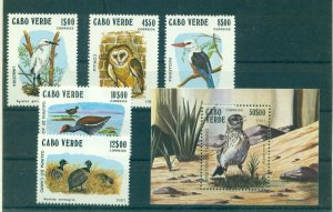 Cape Verde - Sc# 436-41. 1981 Birds. Set & Souv. Sheet. MNH. $20.85.
