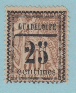 GUADELOUPE 9 FAULTY  CORNER MINT HINGED