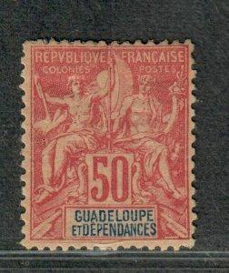 Guadeloupe Sc#41 M/H/F-VF, Cv. $30