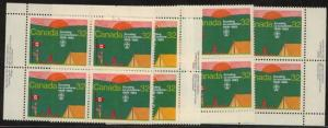 Canada Scouts USC #993 Mint MS Imprint Blocks VF-NH 1983 Canadian Scouting