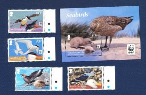 SOUTH GEORGIA - # 447-449 - MNH - WWF,  Birds - 2012