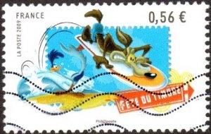 France 3605 - Used - 56c Roadrunner / Wile E. Coyote (2009) (cv $0.85)