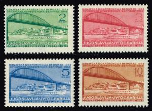 Yugoslavia #239-242 Danube Conf. Set of 4; Unused (9.00)