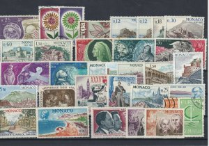 Monaco 1966 Mounted Mint +Used Stamps Ref: R7301