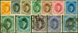 Egypt 1923-24 Set of 12 SG111-122 Good Used