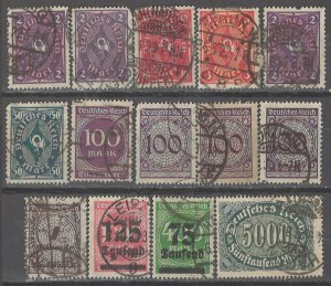 COLLECTION LOT # 2708 GERMANY 14 STAMPS 1921+ CLEARANCE CV+$22