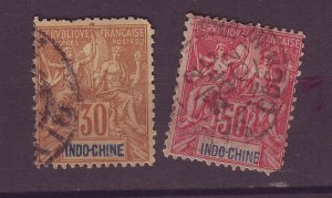J25502 JLstamps 1892-1900 indo-china used #15,17 $24.00 scv avg condition