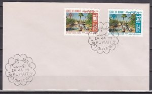 Kuwait, Scott cat. 776-777. Int`l Year of the Child issue. First day cover. ^
