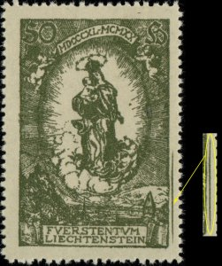 LIECHTENSTEIN - 1920 Mi.40 with short extra lines in right margin - Mint**