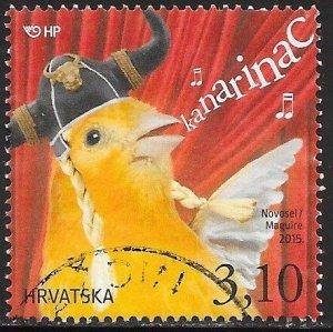 Croatia 940a Used - Children's World - Pets (Birds) - Canary
