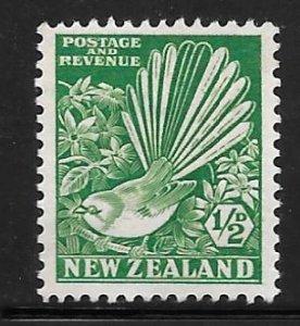 New Zealand 185: 1/2d Fantail (Rhipidura fuliginosa), MH, F-VF