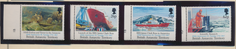 British Antarctic Territory Stamps Scott #188-91, Mint Never Hinged With Selv...