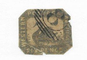 Western Australia #5 Filler Used - Stamp CAT VALUE $900.00