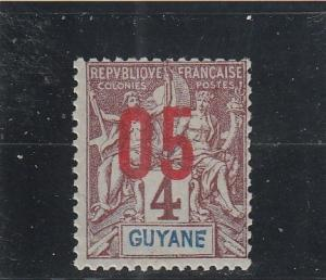 French Guiana  Scott#  88  MH  (1912 Surcharge)