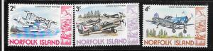 Norfolk Islands #257-259 Military Aircraft (MNH) CV$0.75