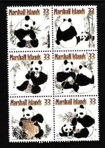 Marshall Is.-Sc#731-unused NH set-Animals-Pandas-2000-