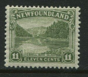 Newfoundland 1923  11 cents mint o.g. hinged