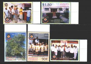 Antigua and Barbuda. 2003. 3920-24. The Salvation Army, a charity. MNH.