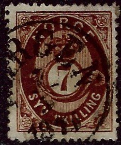 Norway #21 Used VF hr SCV$65...Chance to buy a Bargain!