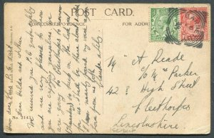 GREAT BRITAIN SQUARED CIRCLE CANCEL BARNETBY ON POSTCARD