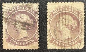 Nova Scotia (Canada) #9,9a??? Used (c1860-1863) Queen Victoria (SCV ~ $25)