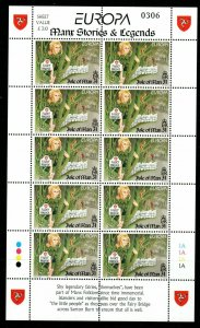 ISLE OF MAN SG743 1997 EUROPA TALES AND LEGENDS SHEETLET MNH