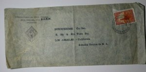 Argentina San Miguel NGSM Observatory Single Sc#494 SDCAirmail Used 1943