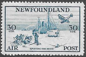 Newfoundland Airmail Stamp Scott Number C15 VF HR