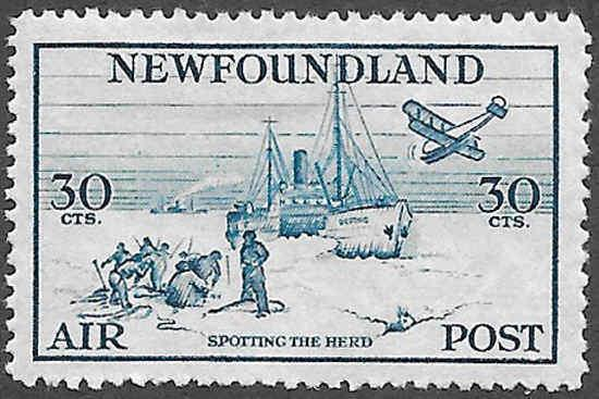 Newfoundland Airmail Stamp Scott Number C15 VF HR