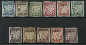Middle Congo overprinted 1928 Postage Due set mint o.g.