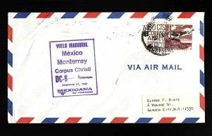 #15005-cover-Inaugural Flight-Monterey Mexico to Corpus Chr