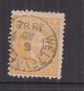 NETHERLANDS EAST INDIES, 1876 William, 11 1/2 x 12, 2 1/2c. Buff, used.