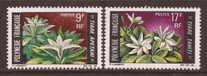 French Polynesia Scott 245-6 MH* Flower Issue 1969